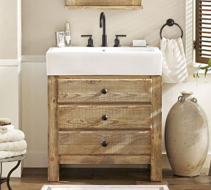 Mason Reclaimed Wood Console Sink from Pottery Barn