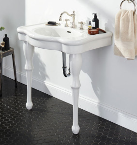 Victorian Pedestal Single Sink Console from Rejuvenation
