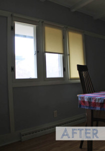 new blinds from blindster.com installed in the dining room