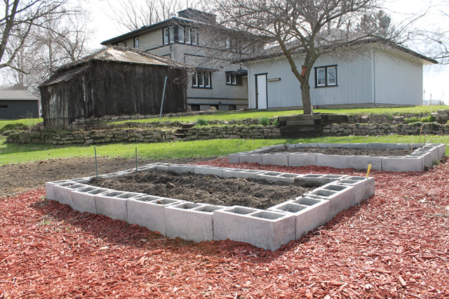 the garden at Mr. and Mr. Blandings DIY Dream House