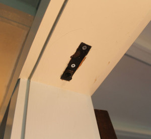door hardware in an American System-Built home on Mr. and Mr. Blandings