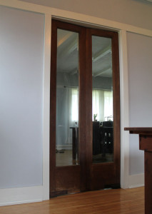 dining room doors in an American System-Built home