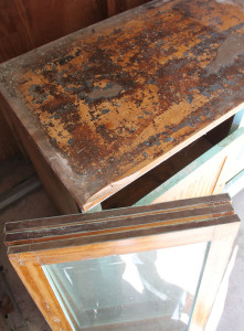 original kitchen cabinets from the Delbert W. Meier house