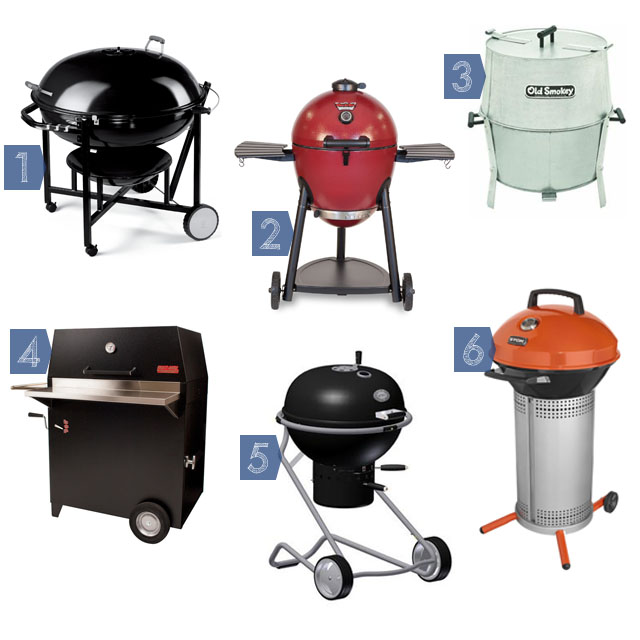 6 charcoal grills