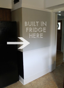 should we create a built-in refrigerator in our American System Built home?