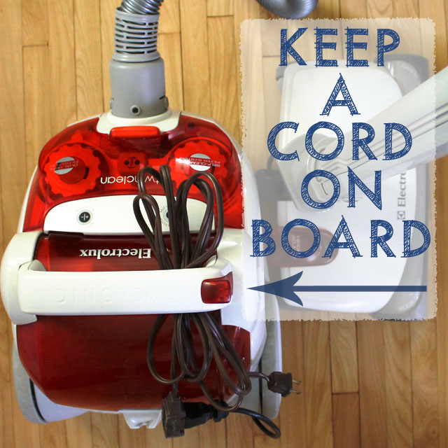 Big House Vacuuming Tip: Keep a Cord on Board