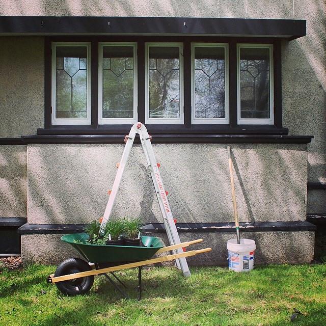 American System Built home window flower box