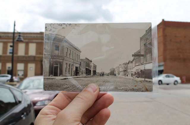Monona, Iowa - 1914 and 2014