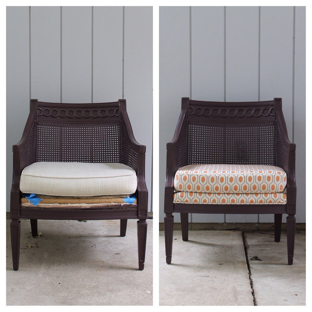 Before & After; Reupholstered Chair Project | This American House