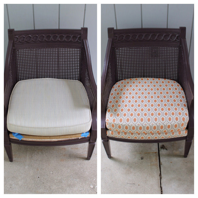 Before(ish) & After: Reupholstered Chair Project