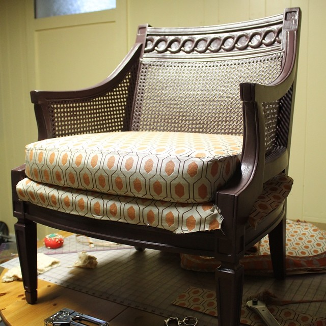 Before & After: Reupholstered Chair Project | This American House