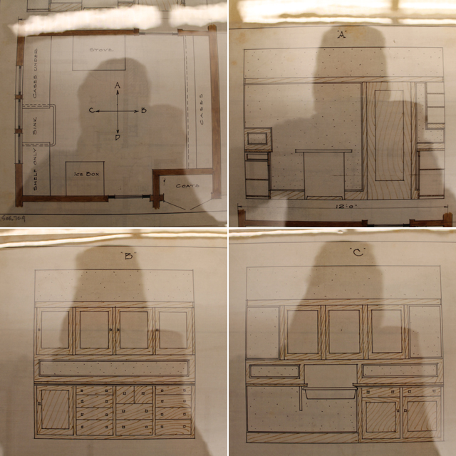 Original Kitchen Plans for American System Built Home Model M202   This American House
