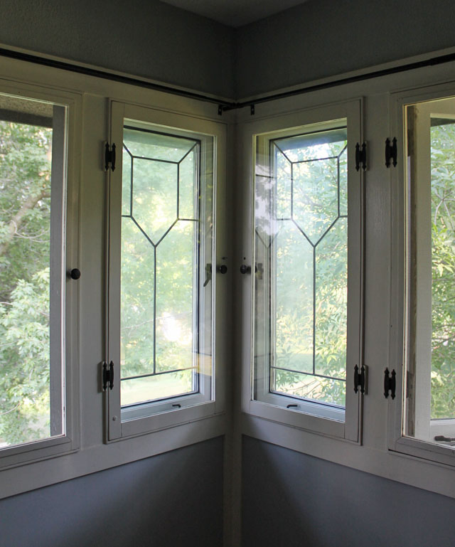Original Zinc Glass Windows on Our American System Built Home | This American House
