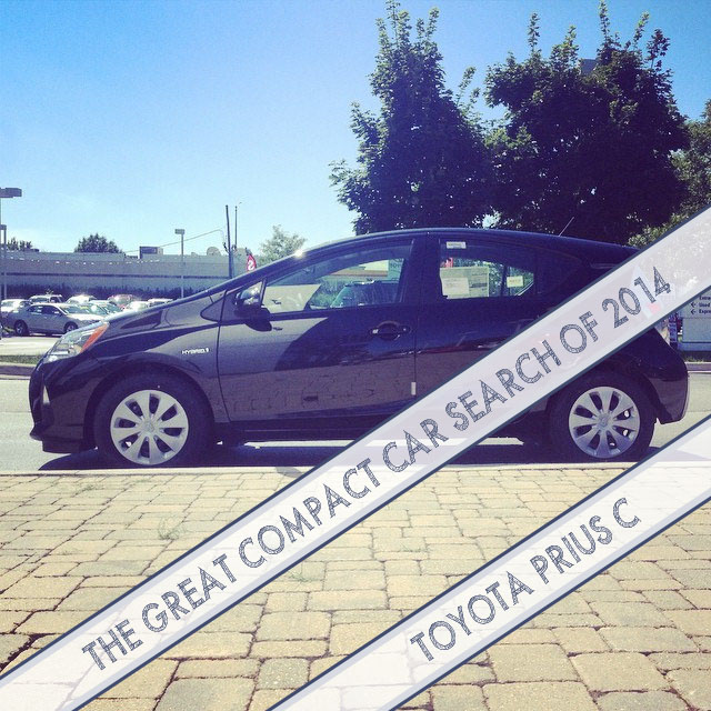 The Great Compact Car Search of 2014: Toyota Prius C | This American House