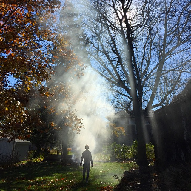 Burning Leaves at This American House