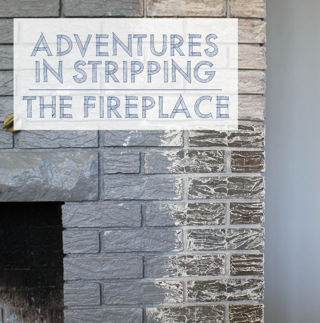 Adventures in Stripping: Refinishing Fireplace Brick