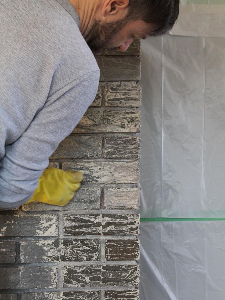 Stripping Fireplace Brick