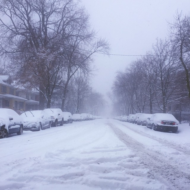 Winter Storm Linus Hits Chicago