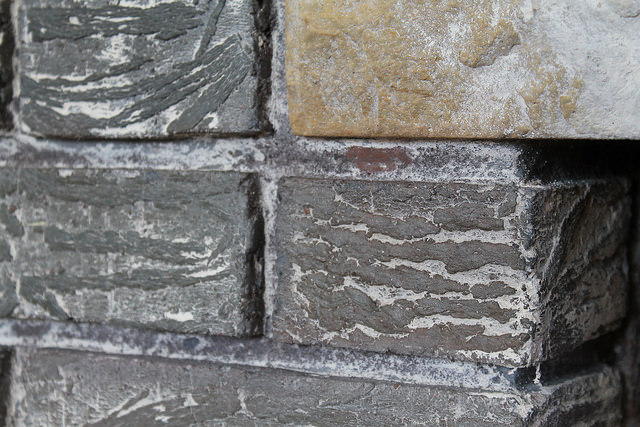 Close Up for Stripped Fireplace Brick