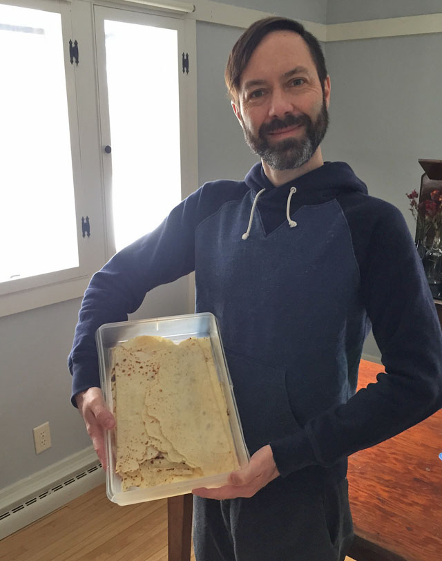The Mister and His First Homemade Lefse