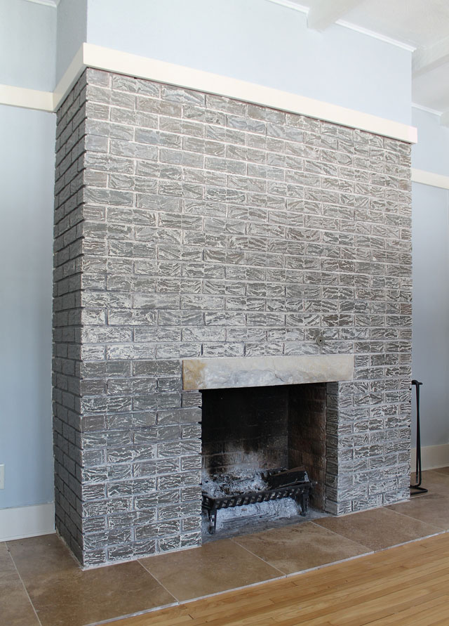 Stripping Brick Fireplace