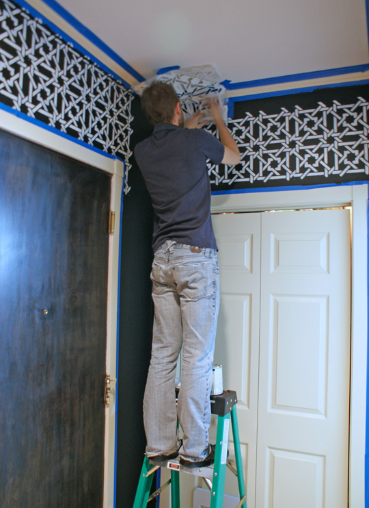 Stenciling the Entryway