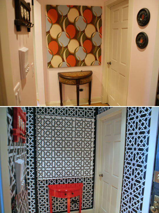 Before & After: The Stenciled Entryway
