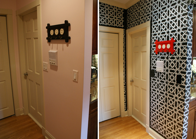 The Stenciled Entryway