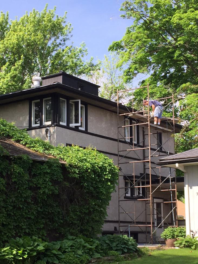 Chimney Specialist Relining the Chimney of Our American System Built Home