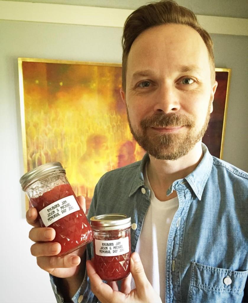 Freshly Canned Rhubarb Jam