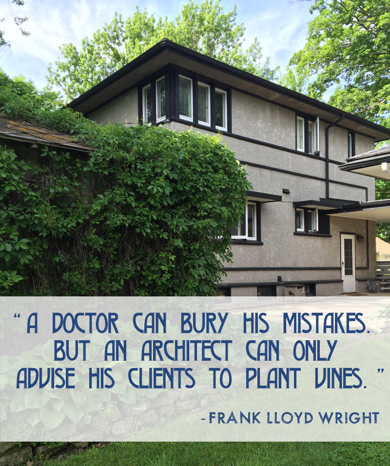 A doctor can bury his mistakes but an architect can only advise his clients to plant vines.