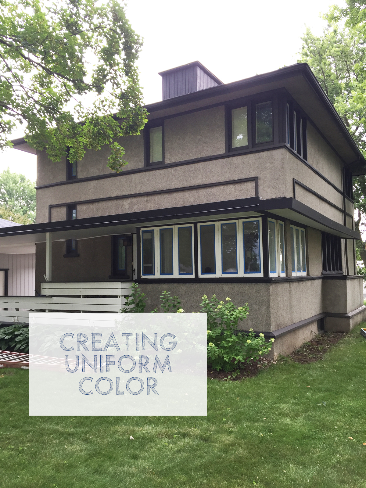 Painting the Delbert Meier House