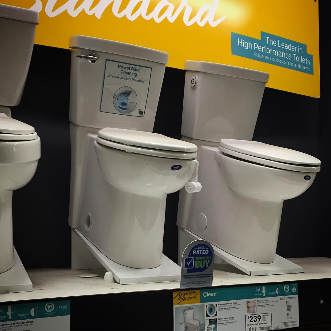 American Standard Clean Toilet at Lowes