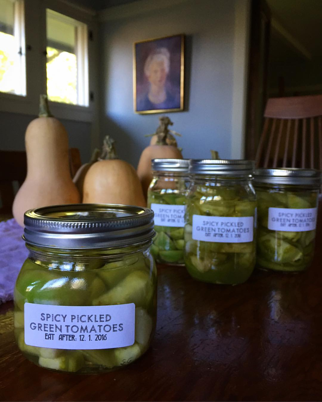Spicy Pickled Green Tomatoes