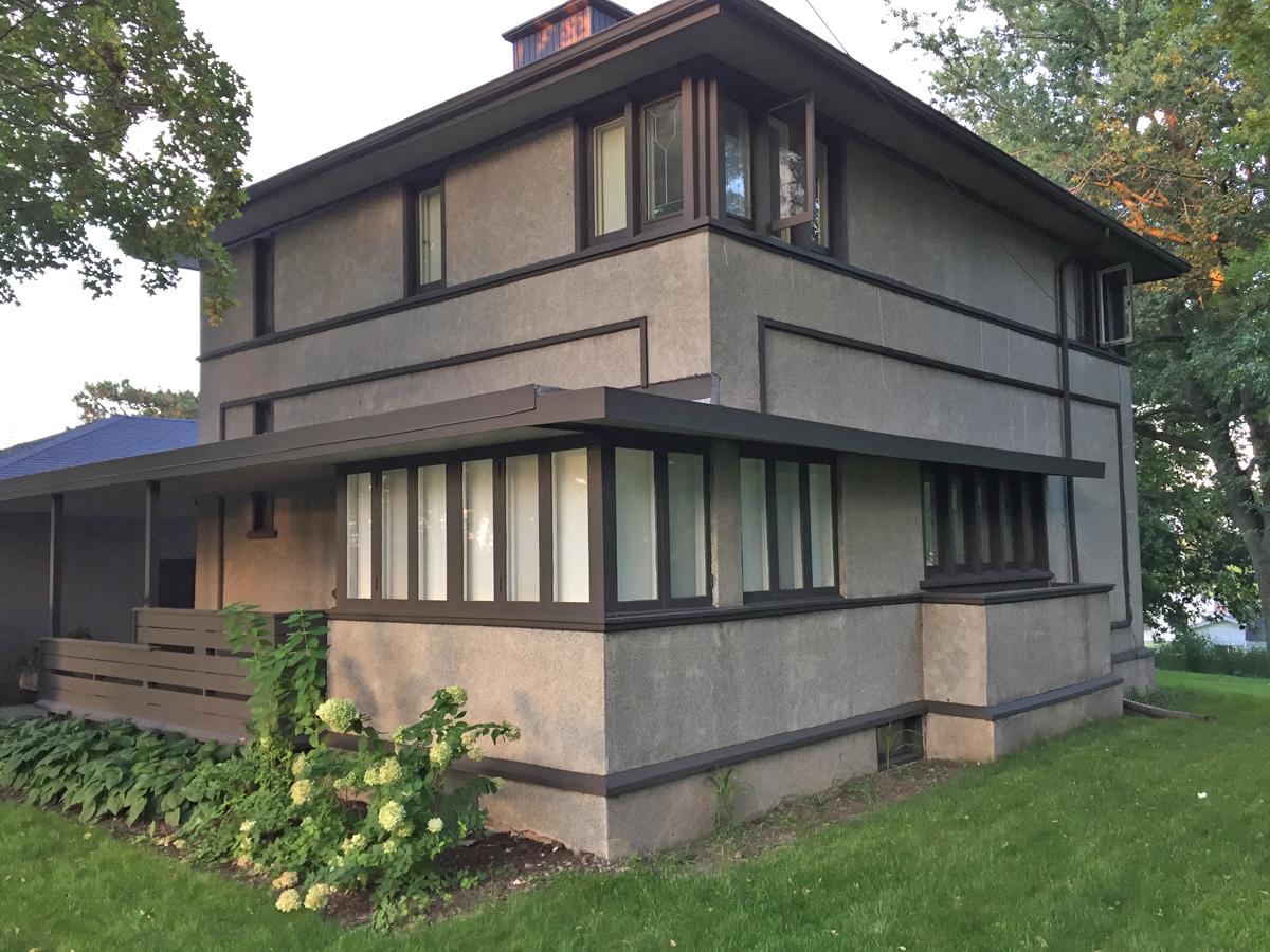Delbert Meier House, an American System Built Home designed by Frank Lloyd Wright