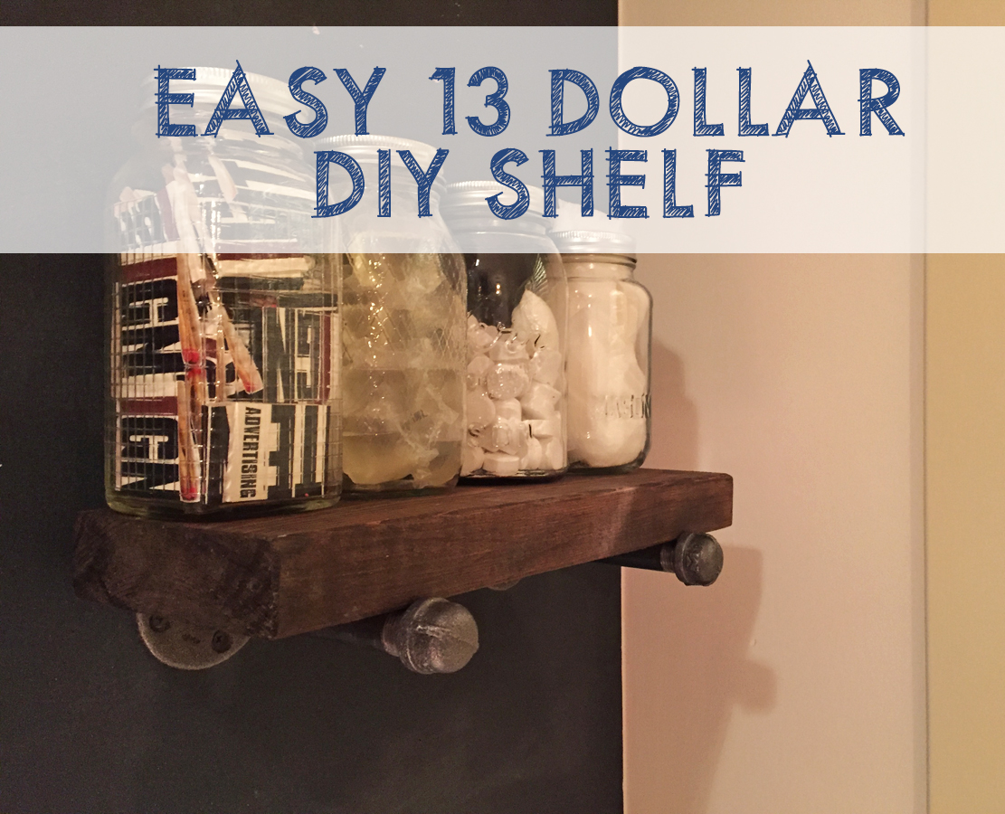 Easy $13 DIY Shelf from This American House