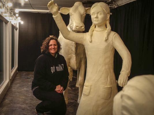 Laura Ingalls Wilder Butter Sculpture via USA TODAY