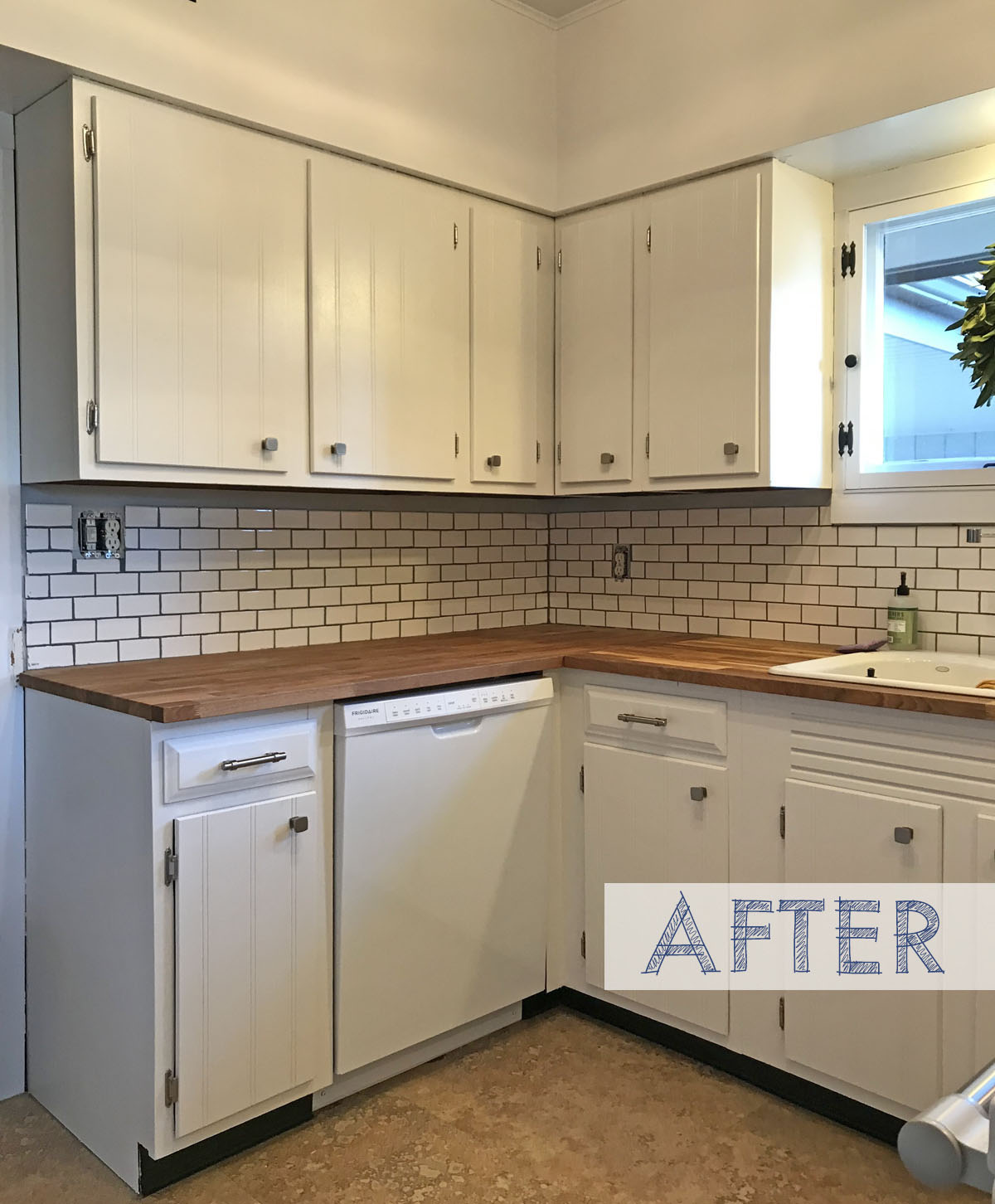 Before & After: White Subway Tile in a Vintage Style Kitchen