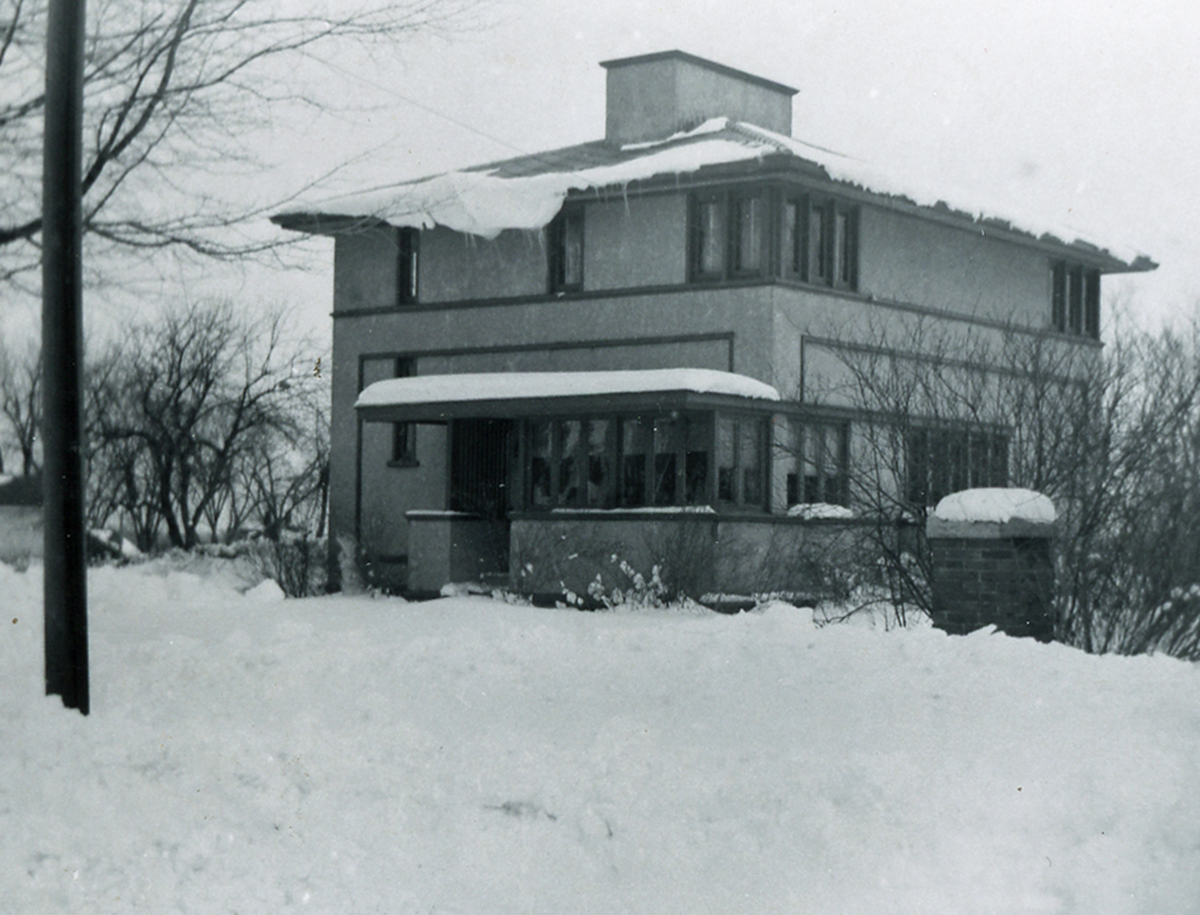 The Delbert Meier House pictured in the 1920s