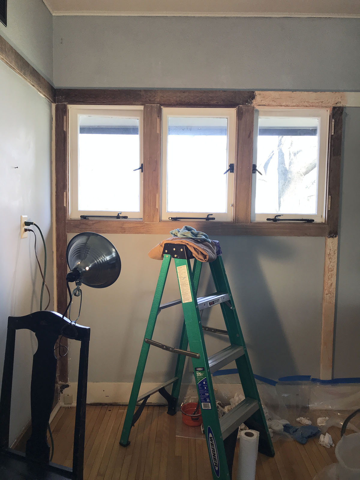 stripping wood trim in American System-Built Home