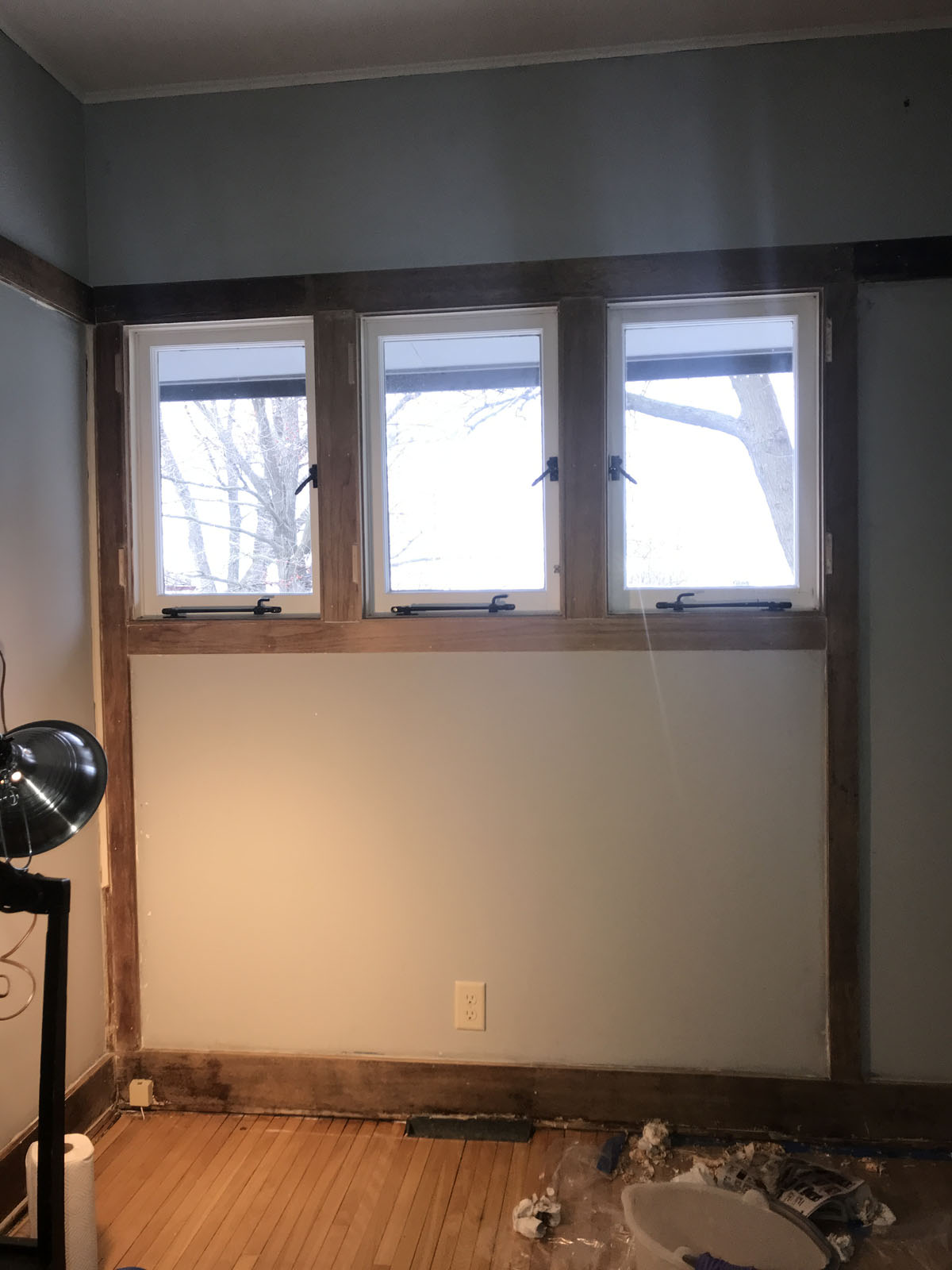 Stripping paint in an old home