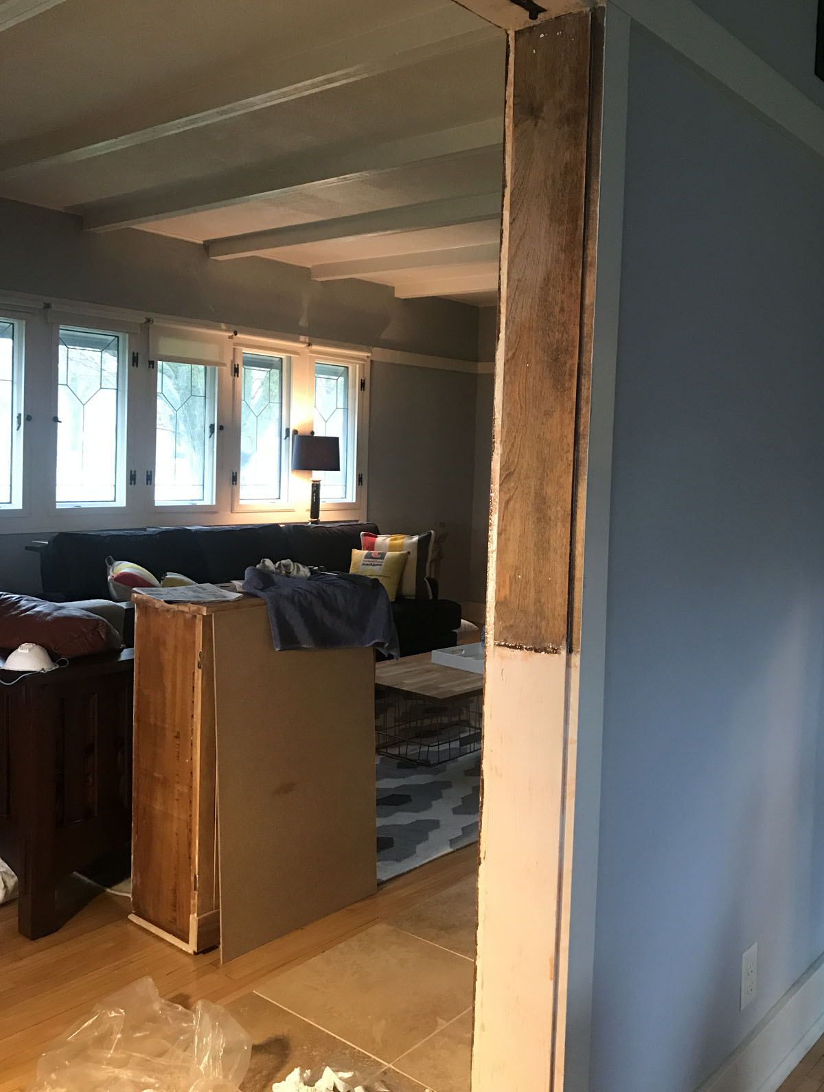restoring wood trim in an old house