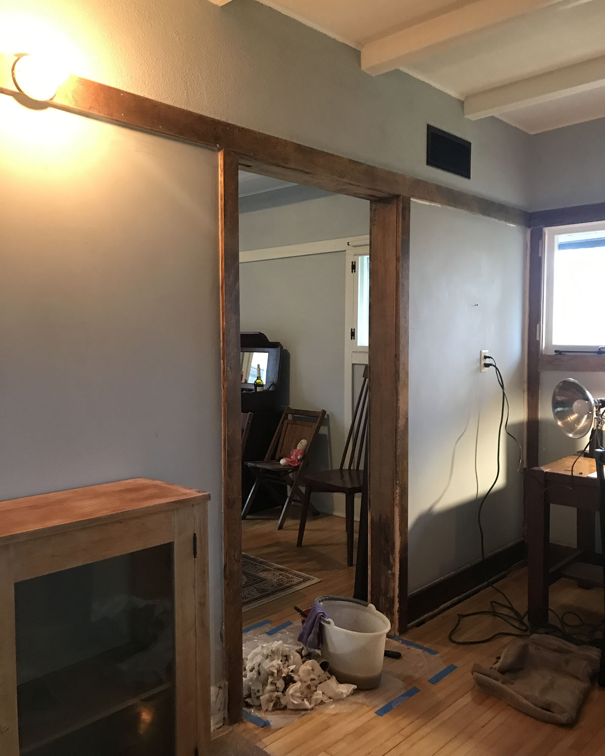 rehabbing wood trim in an old American System-Built home