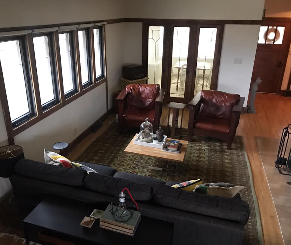 Living Room Delbert Meier House